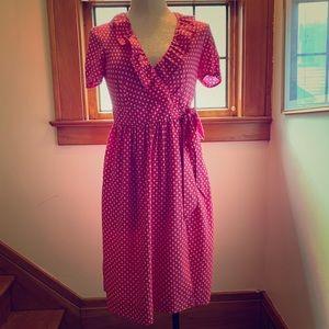 J.Crew pink wrap dress